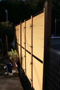 竹垣のフェンス