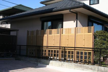 竹垣の目隠しフェンス