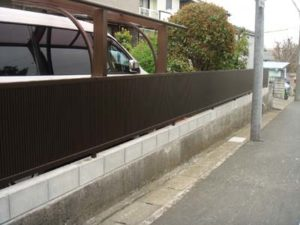 YKK エクスライン8型 高さ80cmのフェンス