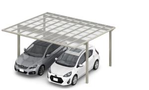 平らな屋根のカーポート